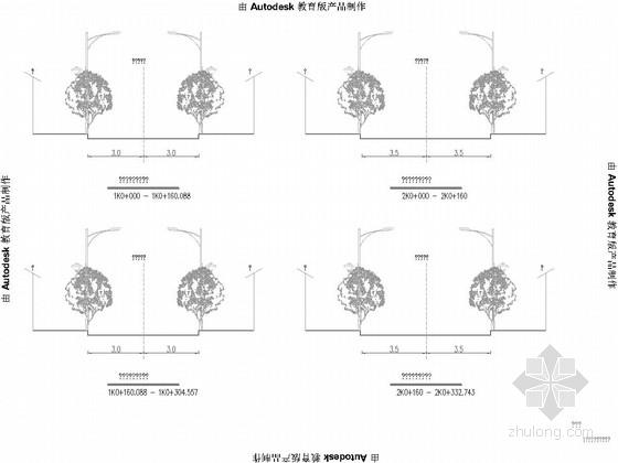 [浙江]工业基地道路工程施工图60张(含景观绿化排水)