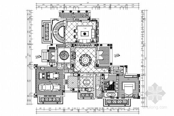 [上海]交通便利高档森林住宅区欧式风格两层别墅装修图