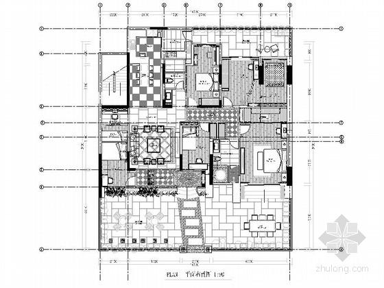 高级欧式风格六室两厅豪宅室内装修设计施工图