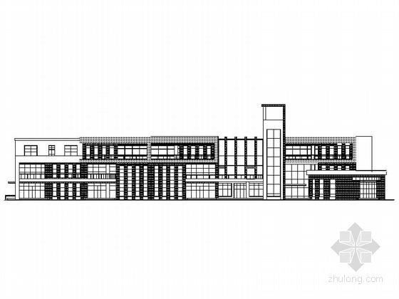 [山东]3层9班现代风格幼儿园建筑施工图