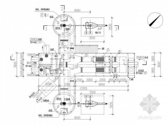 污水处理厂旋流沉砂池及中水池工艺及结构施工图