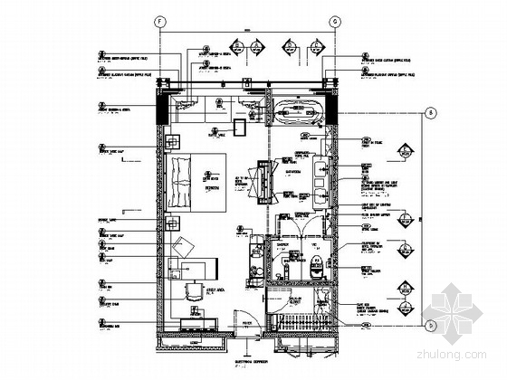 [北京]五星级高端豪华商务酒店客房施工图