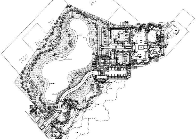 [重庆]九里晴川示范区植物配置施工图设计(CAD)