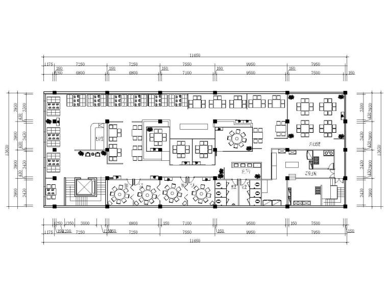 新中式风格火锅店装修全套施工图(附效果图+3D模型)