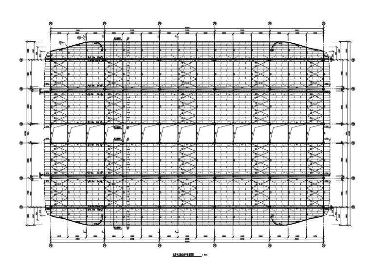 深圳东站雨棚结构施工图(CAD、13张)