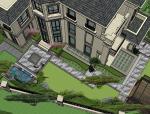 新中式样板院居住区su模型(2017)