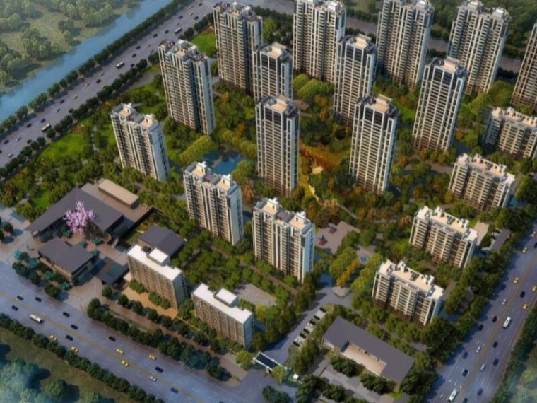 [江苏]苏州万科白塘居住区景观概念方案设计(新中式,诗意栖居)