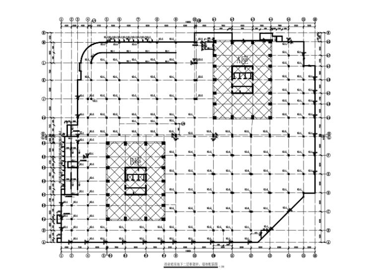 39层框架核心筒结构商业楼结构施工图(CAD、9张)