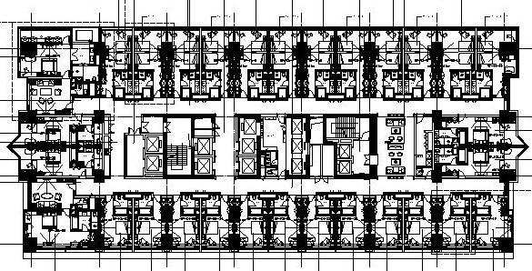 [四川]成都大鼎世纪广场酒店式公寓施工图设计(附高清效果图)