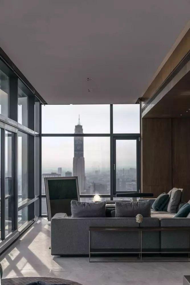 室内设计 130㎡的单身公寓,设计感十足_15