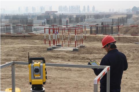 UPS在电厂中的应用资料下载-测量机器人在濮阳豫能电厂锅炉基础施工中的应用技术总结