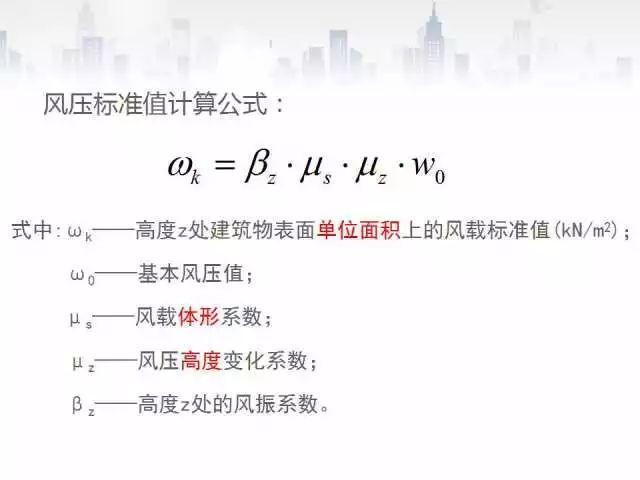 [框架结构手算实例]Part8风荷载计算
