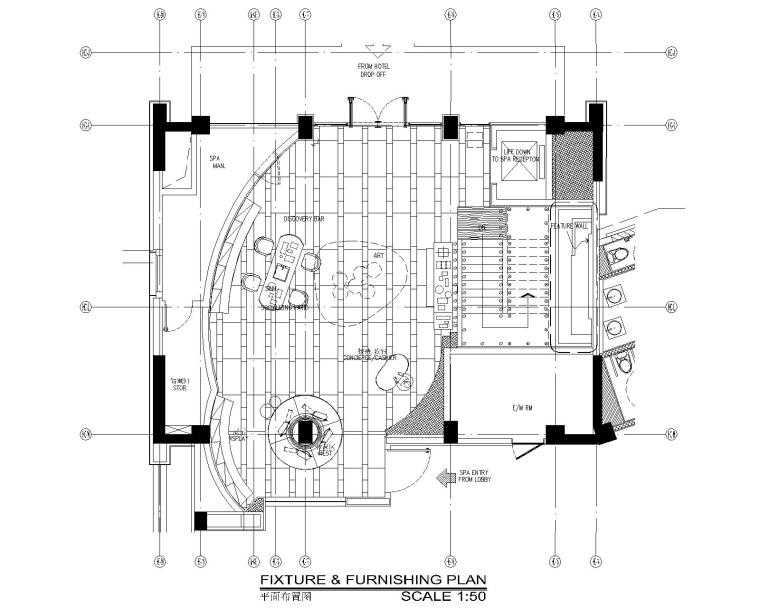 CCD-三亚索菲特酒店SPA区|酒店一层|CAD+PDF设计图纸