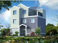 3层新农村独栋别墅设计(砖混结构+CAD+效果图)