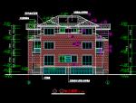 双联别墅建筑全套图