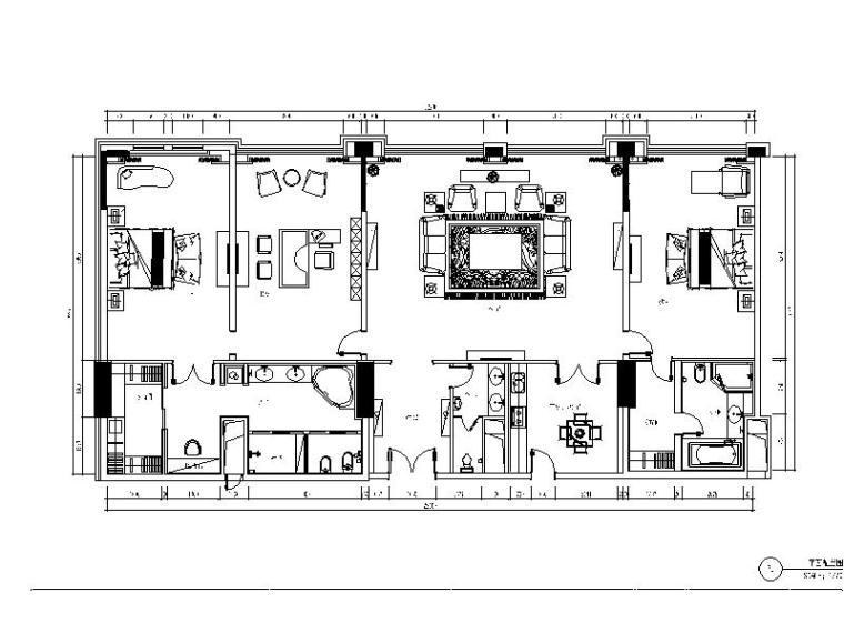 [深圳]某酒店客房装修设计施工图