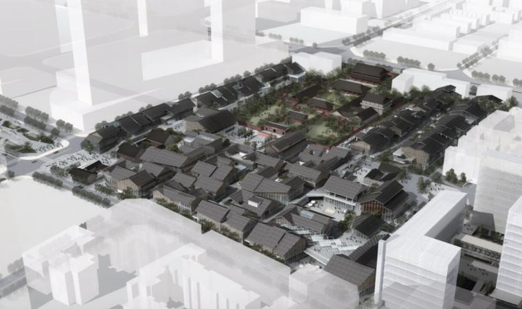 [成都]新中式商业综合体建筑设计方案文本(含SU模型及CAD图纸)