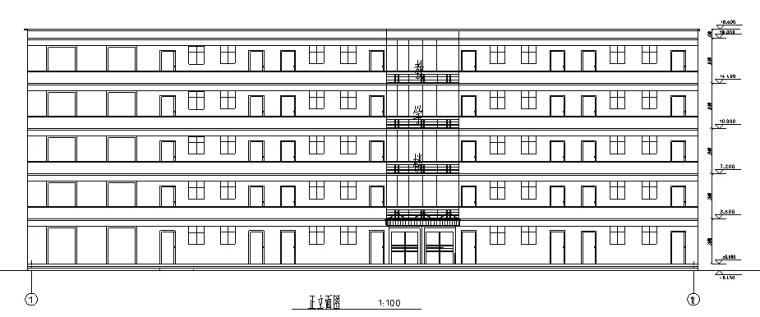 5层框架高中教学楼毕业设计(2000平、计算书、建筑结构图)_3