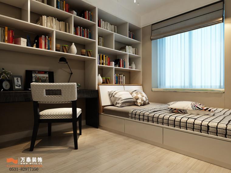 领秀公馆120平三室两厅装修,新中式风格真的很漂亮-书房2.jpg