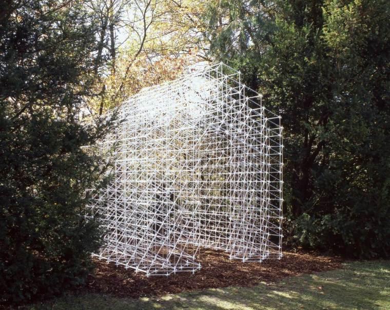丙烯酸管构建网格GardenFolly小屋