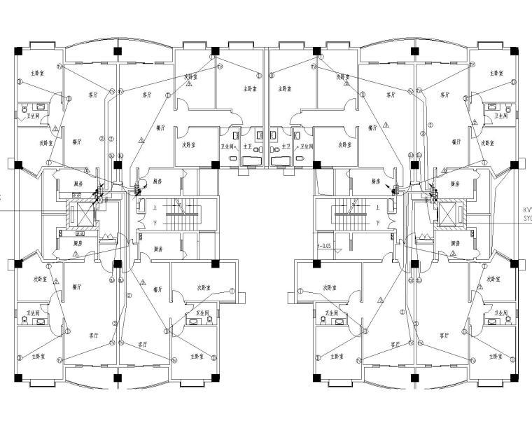 11+1高层电气图纸(包括防雷接地,导线选择及敷设方式,通讯系统,高层住宅)