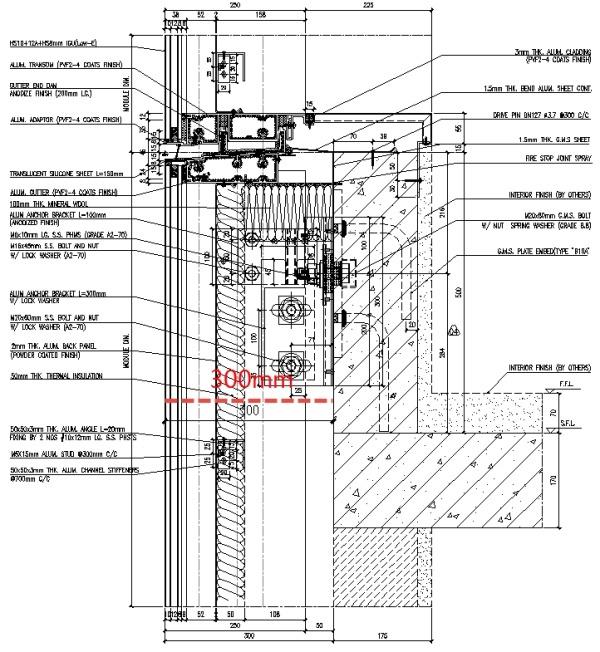 5个建筑与幕墙设计配合的数据