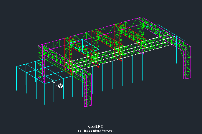 [深圳]冷却塔罩棚钢结构管桁架施工图_3