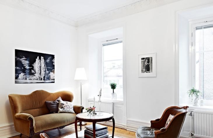 92平北欧公寓两室一厅室内设计实景图(18张)-客厅实景图
