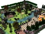 完整的公园景观设计SU模型