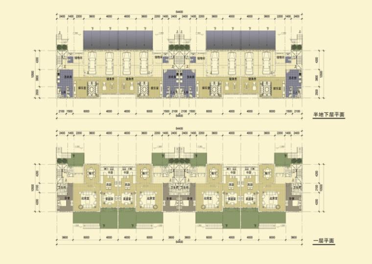 简欧式风格大型别墅区平面图