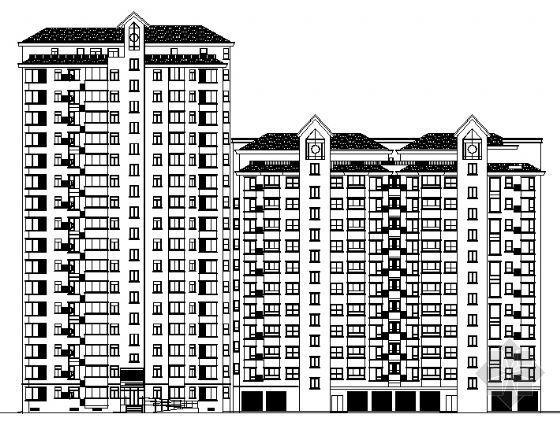 唐山天元帝景住宅小区121#楼建筑施工图