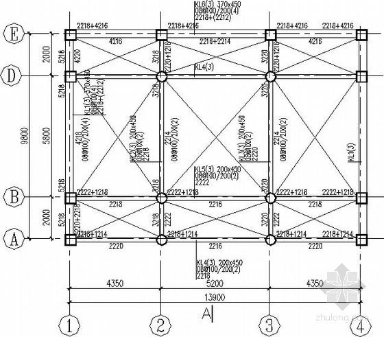 三层框架老年活动中心结构施工图