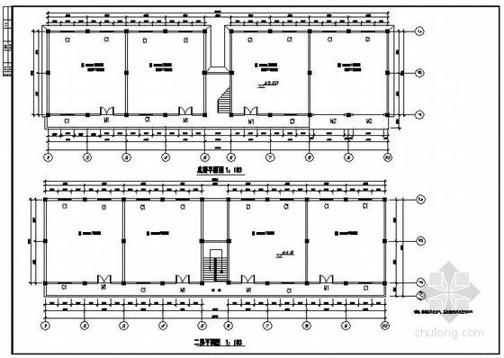 某单位两层框架库房建筑结构施工图