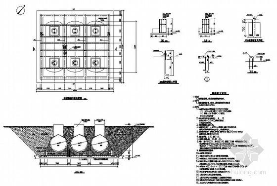 杭州某加油区结构设计图
