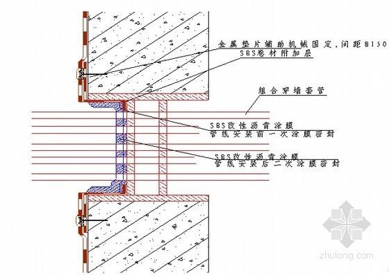 [四川]地下室SBS改性沥青防水卷材施工方案(节点详图)