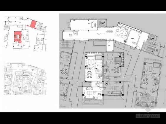 [天津]现代高档总裁会所室内设计方案图