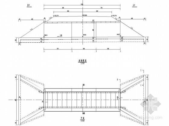 1-1.5米钢筋混凝土盖板涵布置图(正交)