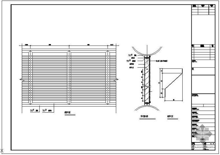 某钢结构百叶窗设计节点构造详图