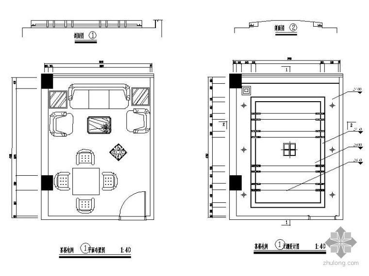 茶楼包间平面图