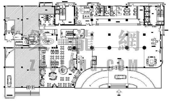 某酒店大堂平面图设计方案