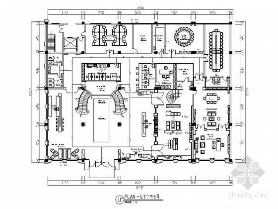 [原创]欧式风格女装品牌服饰办公室室内装修施工图(含方案效果图)