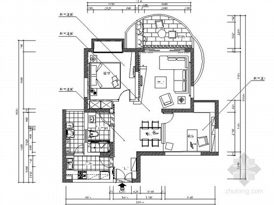 [杭州]素雅两居室内装修图(含实景)