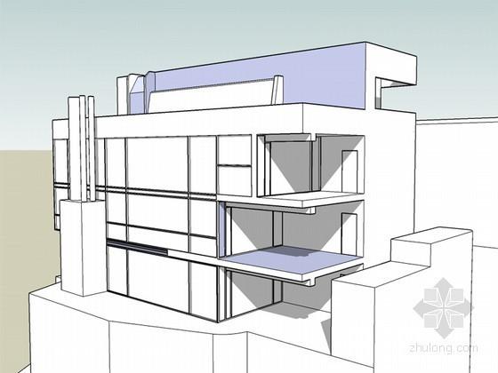 道格拉斯住宅SketchUp模型下载
