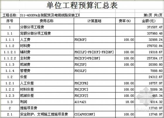施工全套合同资料下载-[广东]400KVA台架配变及电缆线路安装工程施工合同及报价书(全套)