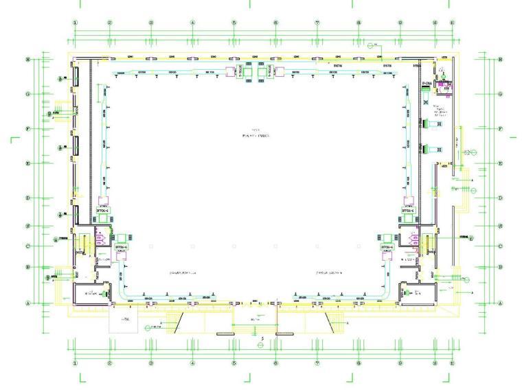 多层游泳馆中央空调系统设计施工图