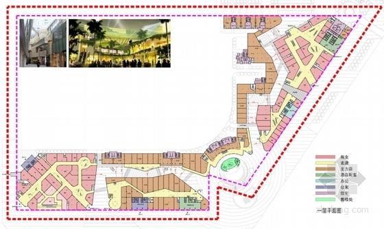 现代风格城市综合体规划平面图