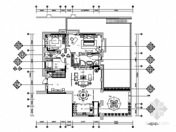 [四川]高端典雅新中式风格三层别墅样板间室内装修施工图(含高清实景图)