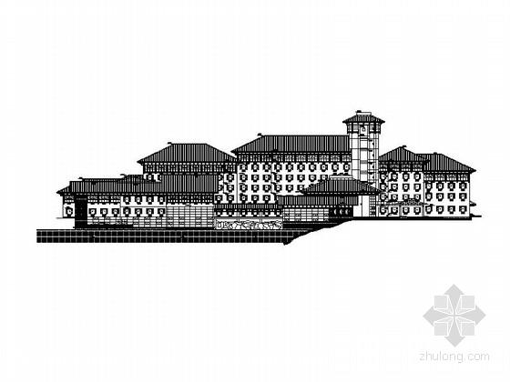 [江西]中式庭院6层宾馆建筑施工图