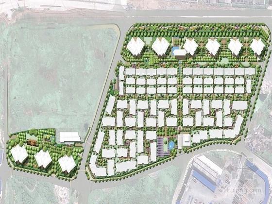 """[重庆]""""迂回""""蜿蜒的新古典主义别墅景观规划设计方案"""