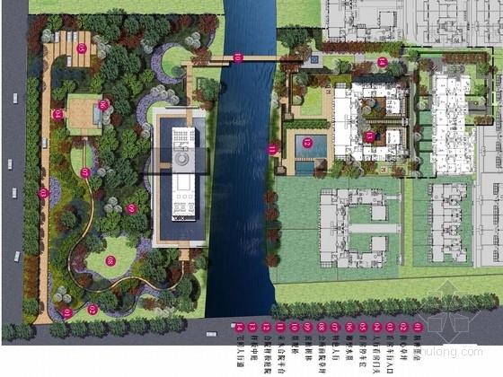 [上海]亲水围合通透简洁宅院样板区设计方案